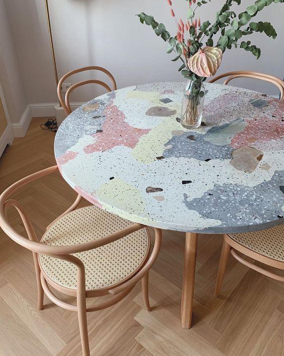 terrazzo table - rkb