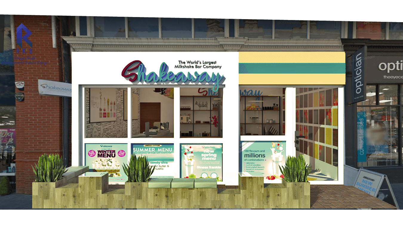 Exterior view of cafe - shakeaway