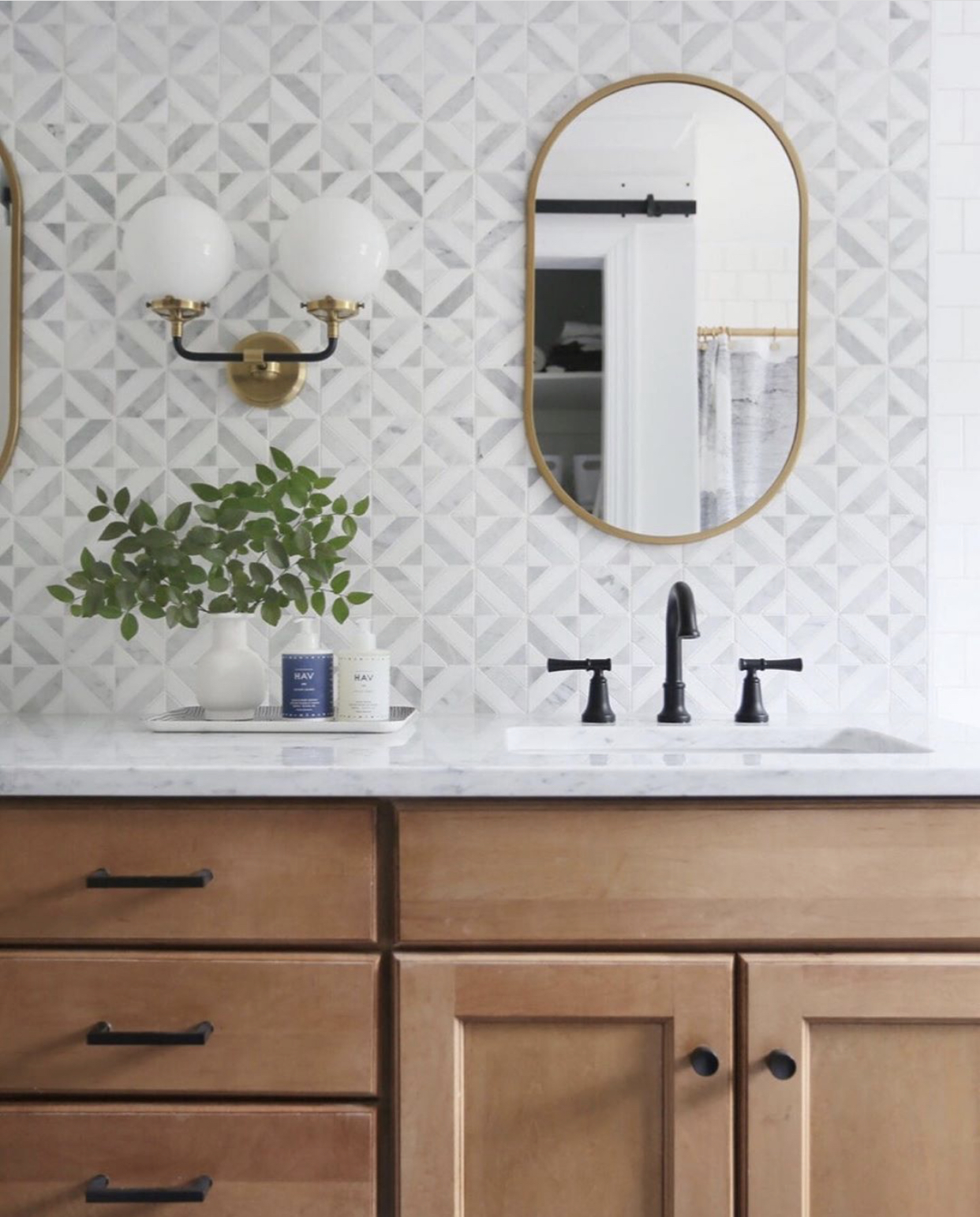 mixed metal bathroom design